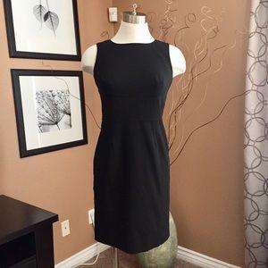 ANN TAYLOR exposed seam sheath dress